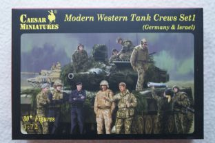 Caesar Miniatures 1/72 CMH102 Western Tank Crews Set 1 (Germany & Israel) (Modern)